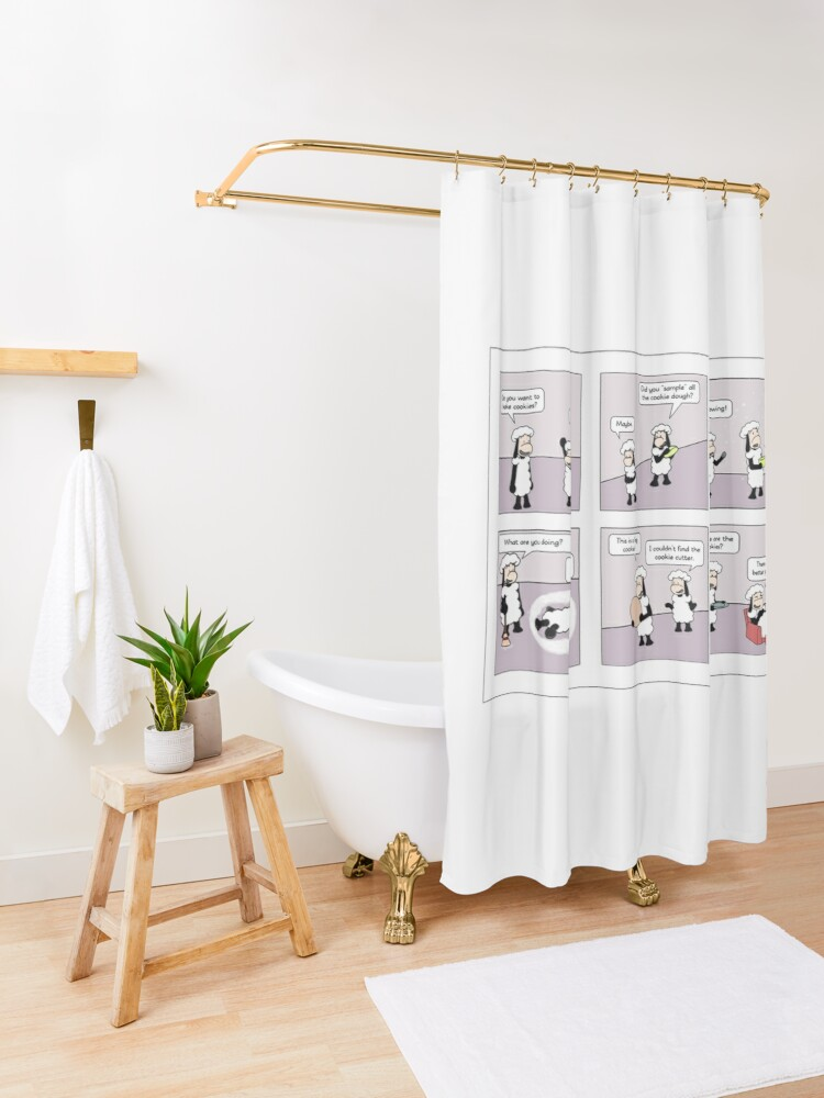 Alternate view of cookies Shower Curtain