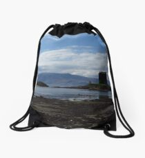 Rocky Foreshore; Castle Stalker Drawstring Bag