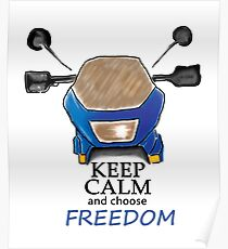 Keep Calm and choose Freedom Poster