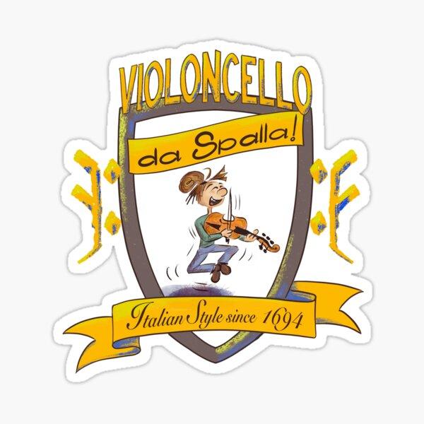 Cartoony da Spalla Shield Sticker