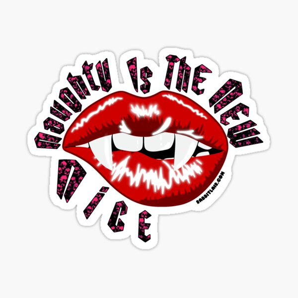 Naughty Is The New Nice - Vampire Lips Sticker