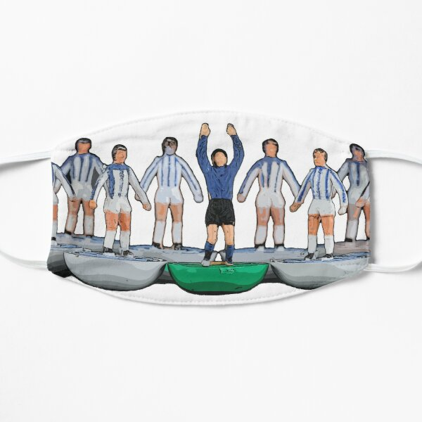 Huddersfield Town/Kilmarnock subbuteo inspired design Flat Mask