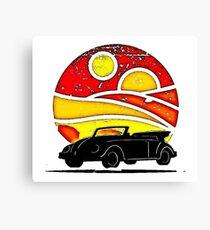 Sunset Beetle silhouette Canvas Print