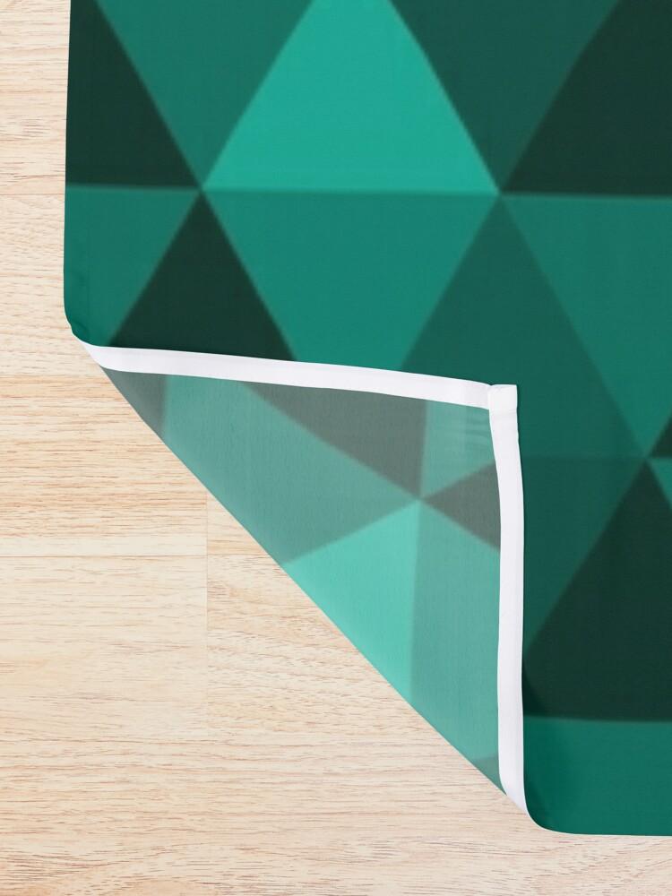 Alternate view of Emerald Quilt Shower Curtain