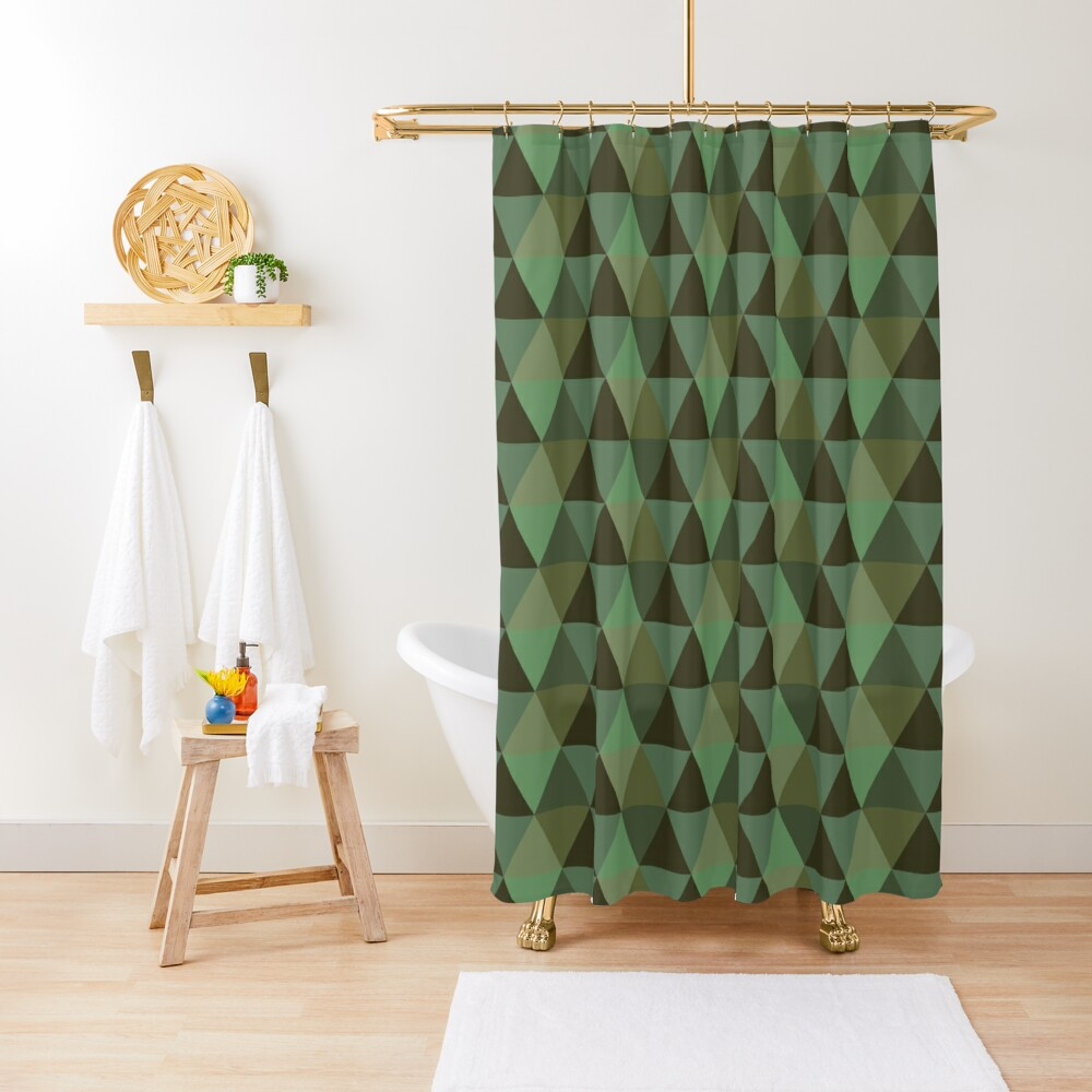 Earth Quilt Shower Curtain