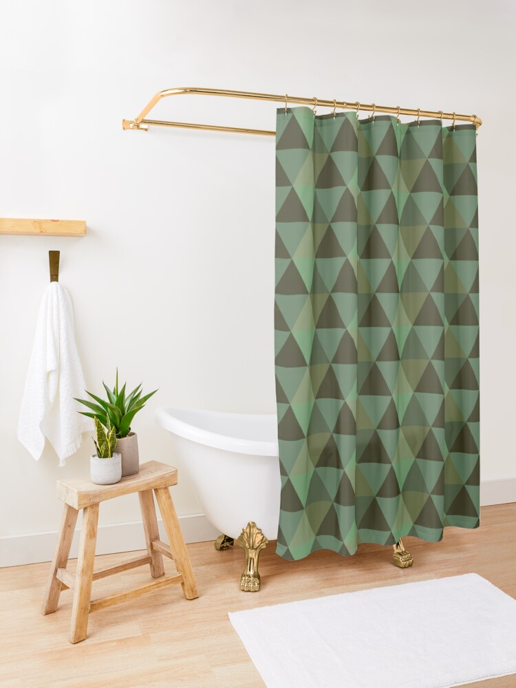 Alternate view of Earth Quilt Shower Curtain