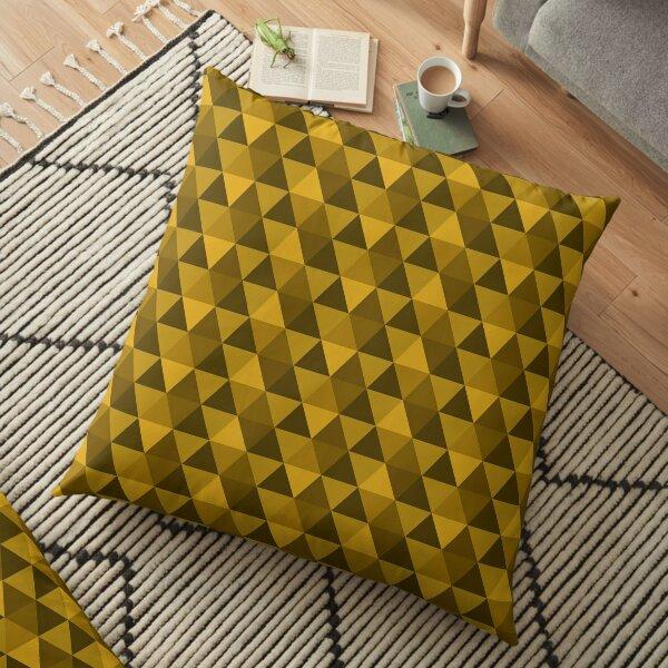 Gold Quilt Floor Pillow