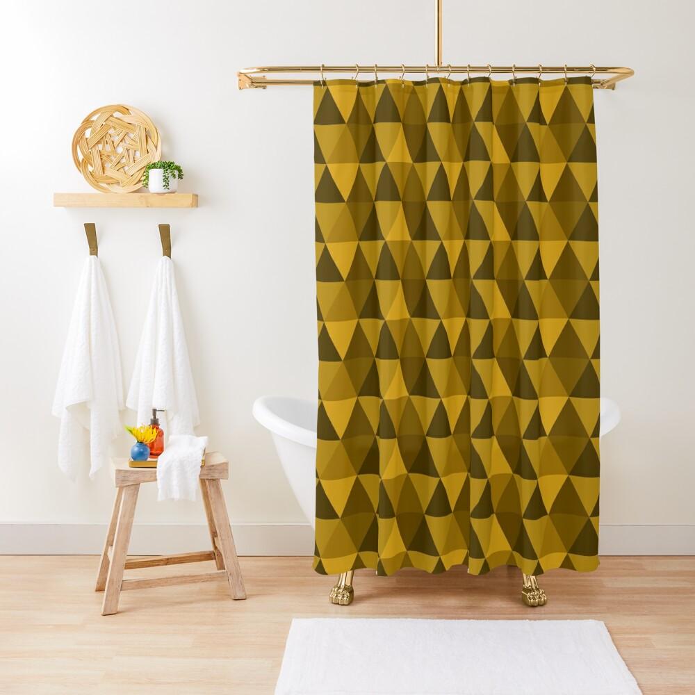 Gold Quilt Shower Curtain