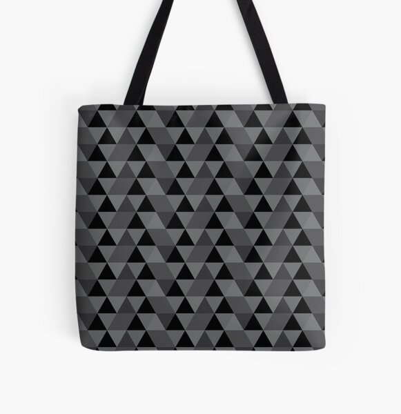 Grey Quilt All Over Print Tote Bag