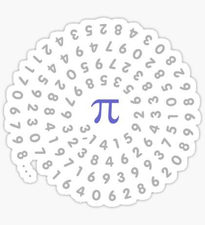 Circumference Pi VRS2 Sticker
