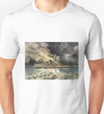 Awful conflagration of the steam boat Lexington - 1840 - Currier & Ives T-Shirt