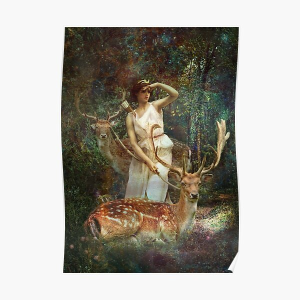 Diana Nemorensis, Goddess of the Woodland Poster