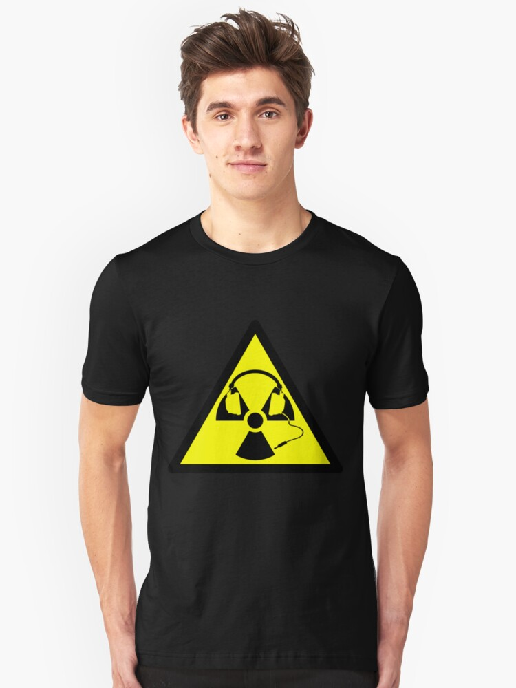 Radioactive Headphones Unisex T-Shirt Front