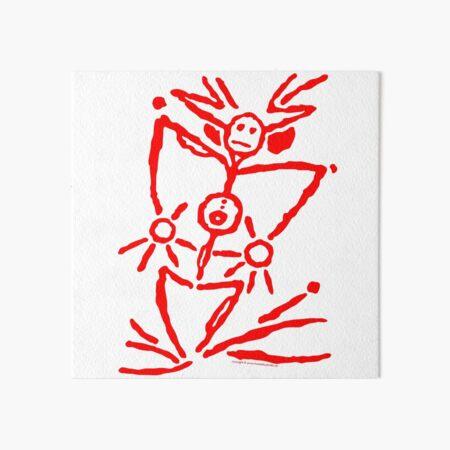 pictogram 6 in red Art Board Print