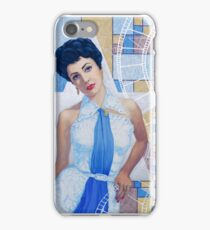 """Elizabeth Taylor, portrait from the """"Old Hollywood""""series iPhone Case/Skin"""