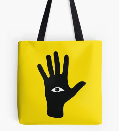 Seeing hand Tote Bag