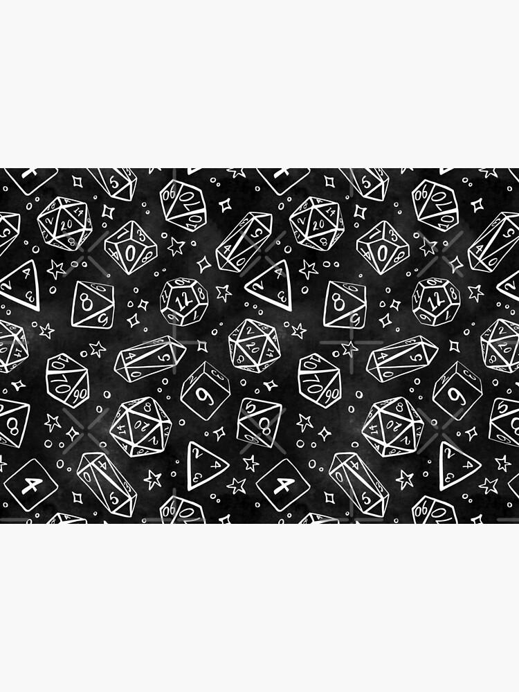 Watercolor Line Art Dice - Black by annieparsons
