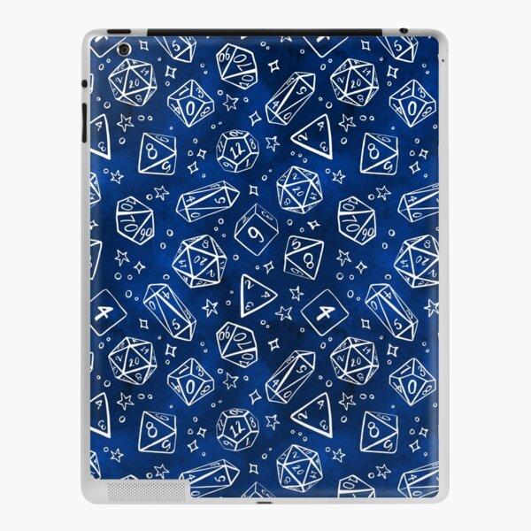 Watercolor Line Art Dice - Blue iPad Skin