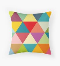 Colourful and bold triangles Throw Pillow