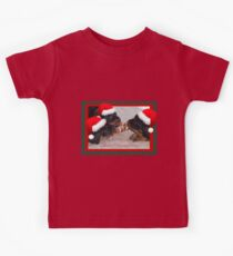 A Time Of Joyous Giving Greeting Vector Kids Tee