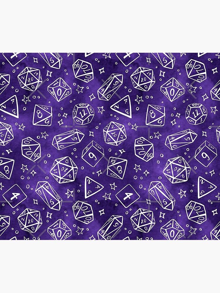 Watercolor Line Art Dice - Purple by annieparsons