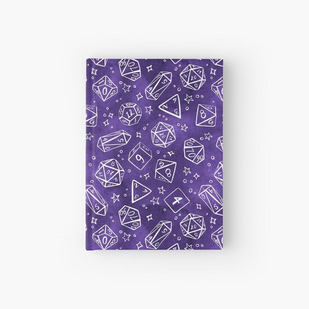 Watercolor Line Art Dice - Purple Hardcover Journal