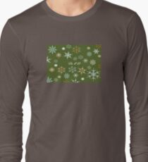 To Dad At Christmas Greeting With Snowflakes Long Sleeve T-Shirt