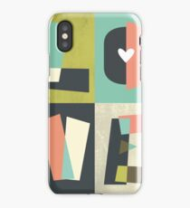 LOVE - typography full colour iPhone Case/Skin