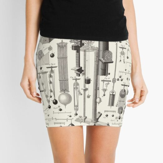 Vintage Science and Engineering Poster Mini Skirt
