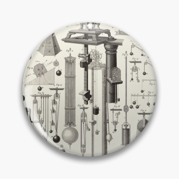 Vintage Science and Engineering Poster Pin