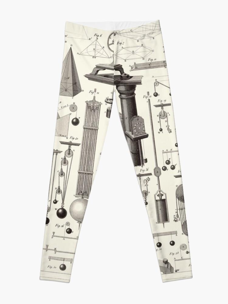 Alternate view of Vintage Science and Engineering Poster Leggings