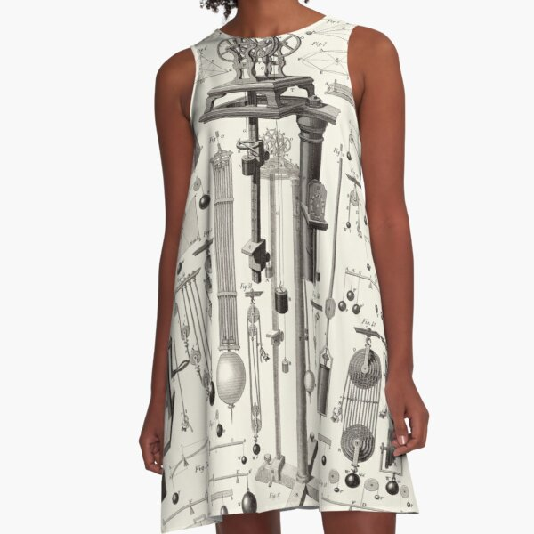 Vintage Science and Engineering Poster A-Line Dress