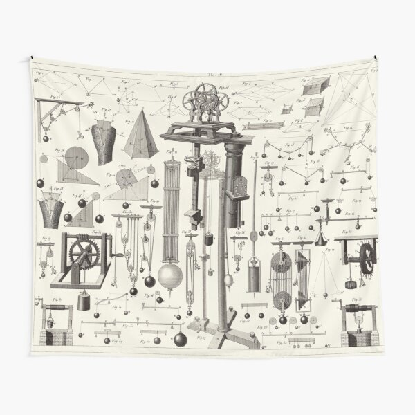 Vintage Science and Engineering Poster Tapestry