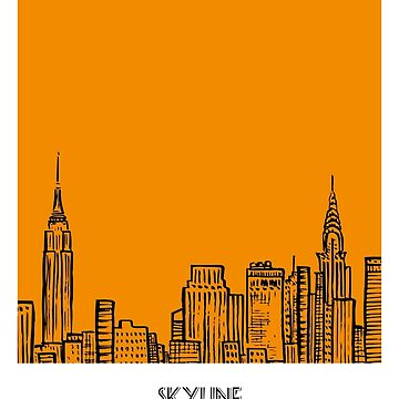 World Sketches - New York Skyline Sketch by springwoodbooks