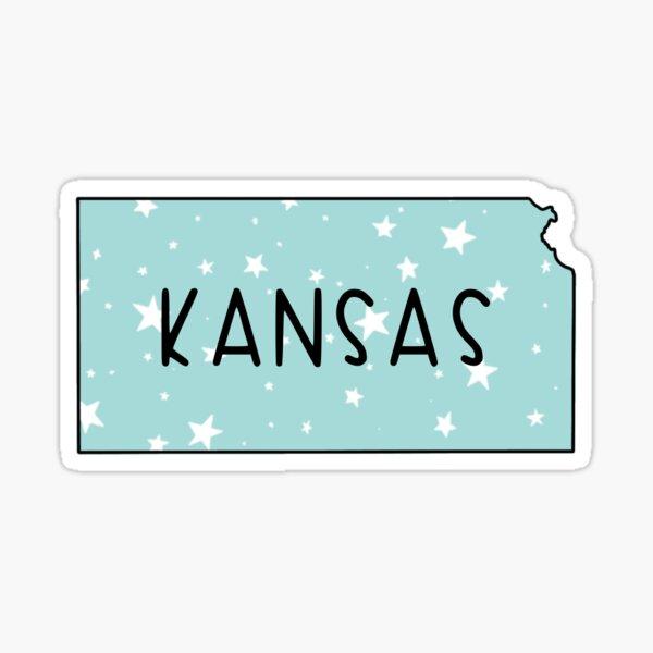 Kansas Light Teal Star  Sticker