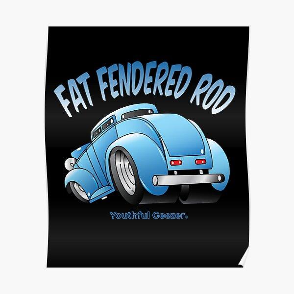 Fat Fendered Rod Cartoon Car Toon Poster