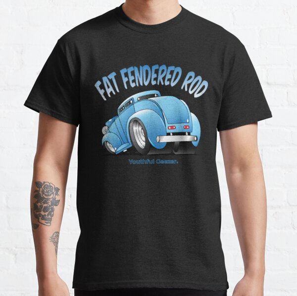 Fat Fendered Rod Cartoon Car Toon Classic T-Shirt