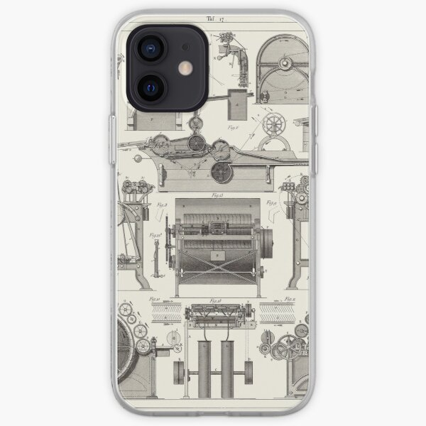 Vintage Science and Engineering Poster iPhone Soft Case
