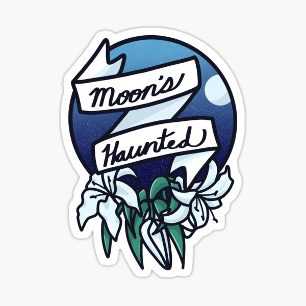 Moon's Haunted Sticker