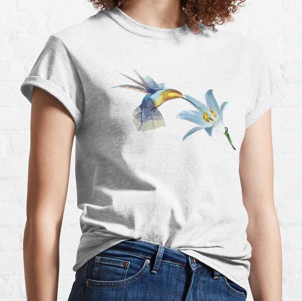 hummingbird flower artwork Classic T-Shirt