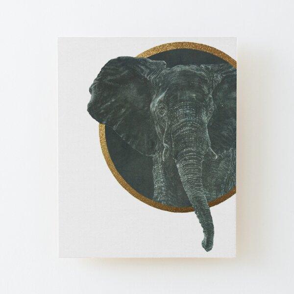 Hello says the Elephant Wood Mounted Print