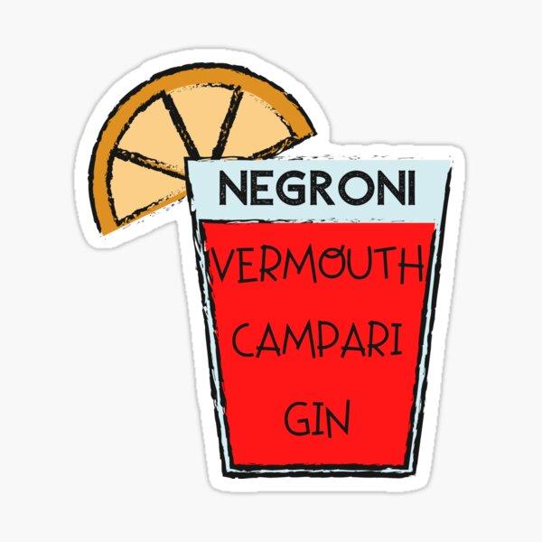 Negroni Vermouth Campari Gin Sticker