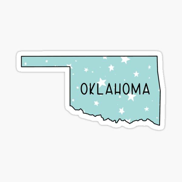 Oklahoma Light Teal Star  Sticker