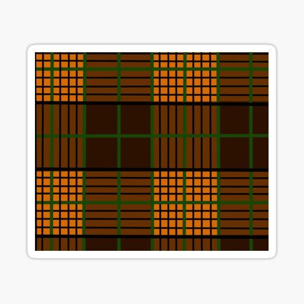 Copy of Orange, Black, and Green  Plaid/Tartan Sticker