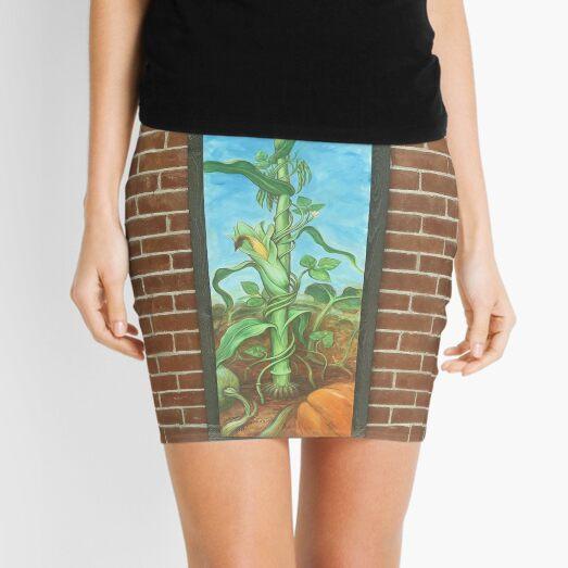 Three Sisters: Corn Beans Squash on Brick Wall Mini Skirt