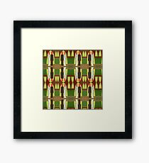 THE BLUSHING BRIDE AND GROOM 3 Framed Print