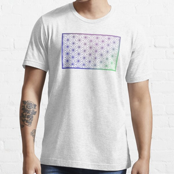 Asanoha Traditional Japanese Wagara Pattern - Psychedelic V1 Essential T-Shirt