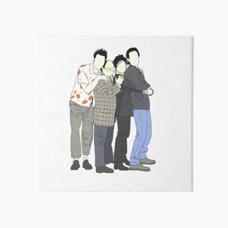 Jerry, George, Elaine, Kramer Lámina rígida