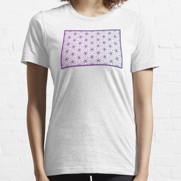 Asanoha Traditional Japanese Wagara Pattern - Psychedelic V3 Essential T-Shirt