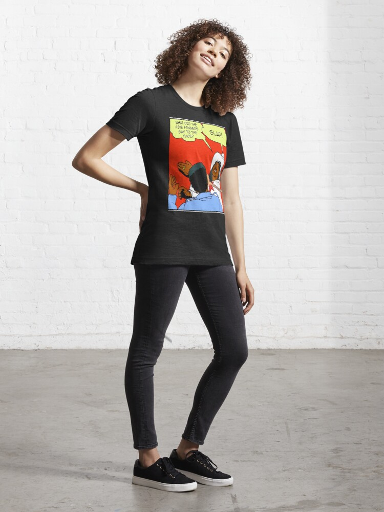 Alternate view of DAVE CHAPPELLE'S RICK JAMES SLAP COMIC STRIP PARODY Essential T-Shirt
